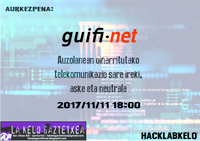 Guifi.net-eri buruzko hitzaldia